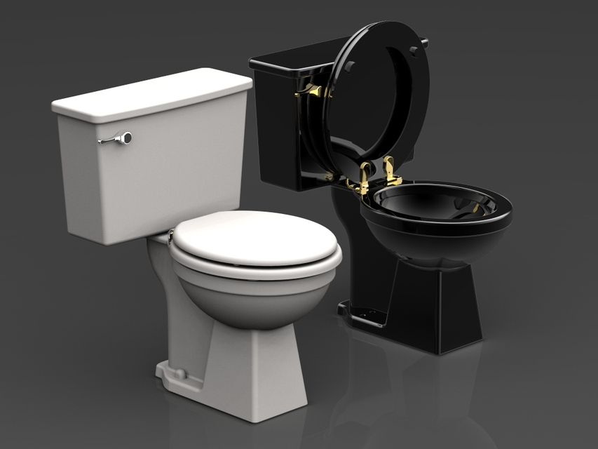 Water closet step iges stl autocad step iges for Inodoro cad