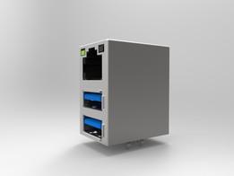 RJ45 Dual USB Assembly