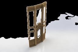 Elegnat wooden entrance doors
