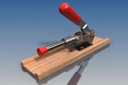 Toggle push clamp