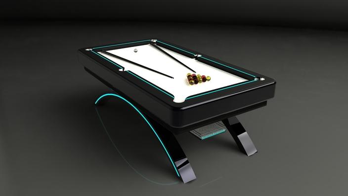 Pool table autodesk inventor stl step iges 3d cad for Table design 3d model