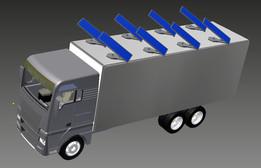 truck MAN  solar panels