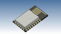 ESP8266-12E for EagleUp (Sketchup 3D model)