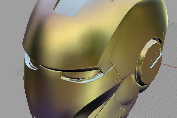 Helmet Tutorial Rhino Ironman Helmet-rhino Obj