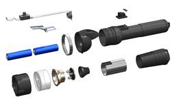 SOLIDWORKS, flashlight - Most downloaded models | 3D CAD