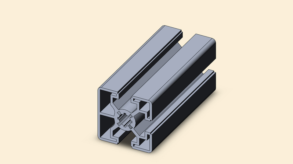 Aluminium profiles 45 | 3D CAD Model Library | GrabCAD