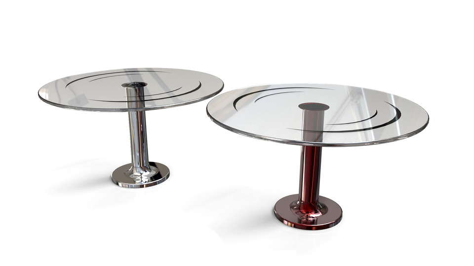 Round Glass Table 3d Cad Model Library Grabcad