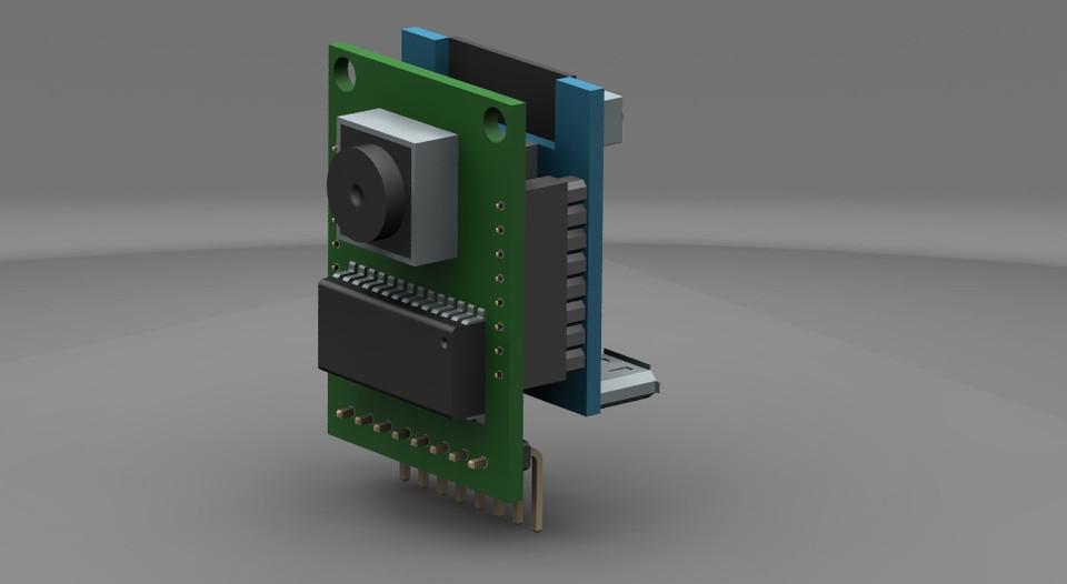 ArduCAM Mini 2MP + ESP8266 Nano | 3D CAD Model Library | GrabCAD