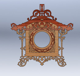 Clock Fretwork