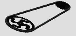 Bicycle chain and sprocket