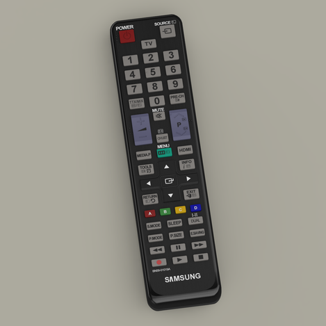 Samsung TV Remote Control - SolidWorks, Other - 3D CAD model - GrabCAD