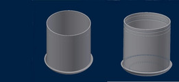 CAD Creation For Cylindrical Planter