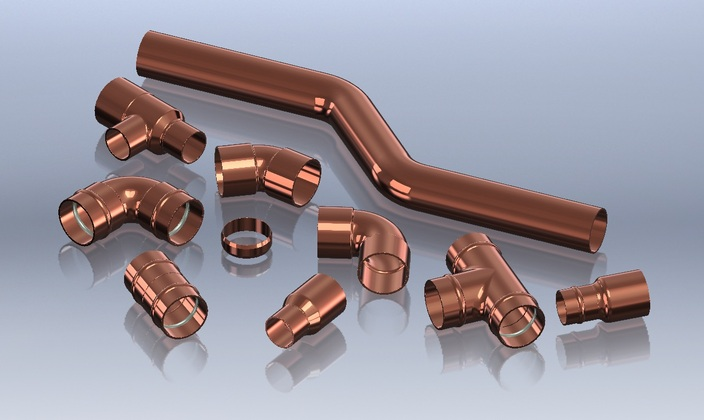 Ø22mm Copper Fittings