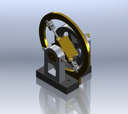 Comber Rotary Engine Stl Step Iges Solidworks 3d
