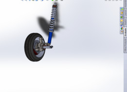 ATV REAR WHEEL SUSPENSION