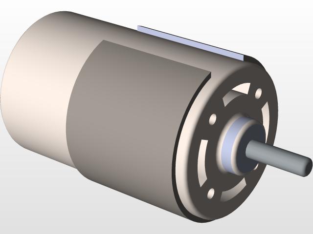 DC Motor   3D CAD Model Library   GrabCAD