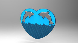 Dolphins in heart