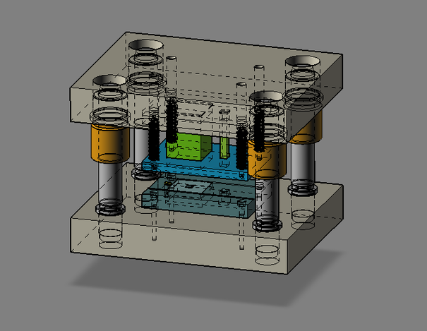 Sheet Metal Die Set Step Iges 3d Cad Model Grabcad