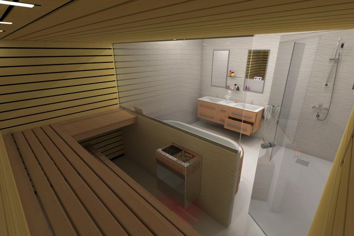 Sauna And Bathroom Design