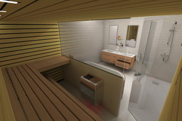 Sauna and bathroom design