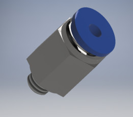 Pneumatic connector M5x0,8