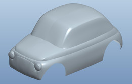 Fiat 500 surface model