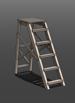Folding ladder-wooden-stairs-scala-Leiter-échelle-