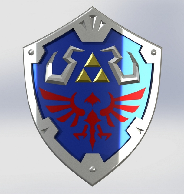 hylian shield solidworks 3d cad model grabcad