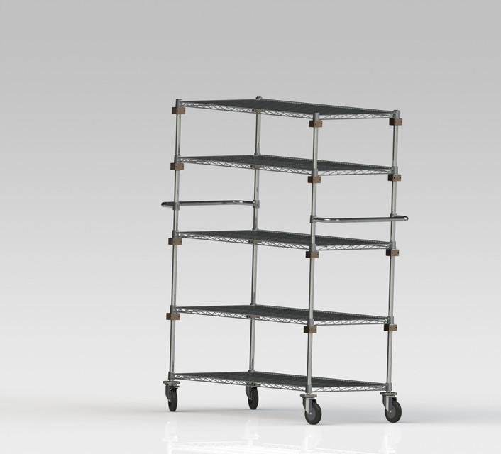 Mobile Adjustable Wire storage rack | 3D CAD Model Library