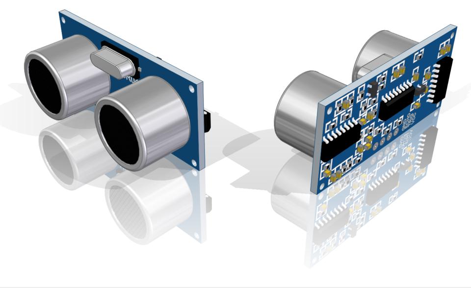 HC-SR04 - Ultrasonic Sensor   3D CAD Model Library   GrabCAD
