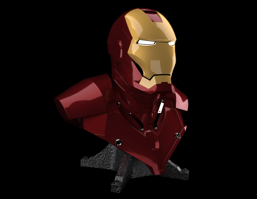 Iron Man Mark 2 Bust | 3D CAD Model Library | GrabCAD