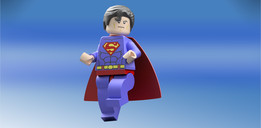 Lego Superman Minifigure - Action Pose - Fly