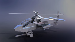 Apache Helicopter AH-64, sheet metal puzzle, military, 3d model, metalcraftdesign