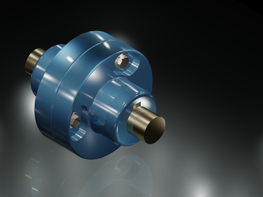PROTECTED TYPE FLANGE COUPLING | 3D CAD Model Library | GrabCAD