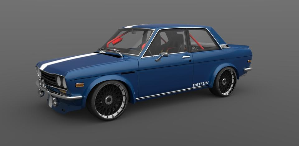 Custom DATSUN 510 | 3D CAD Model Library | GrabCAD