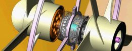 Coaxial gearbox-Mounting and blades.
