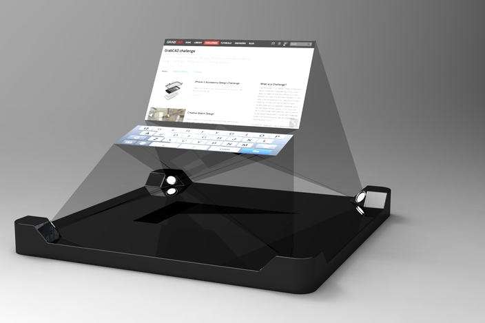 Iphone 5 3d hud projector autocad autodesk 3ds max for Iphone 5 projector