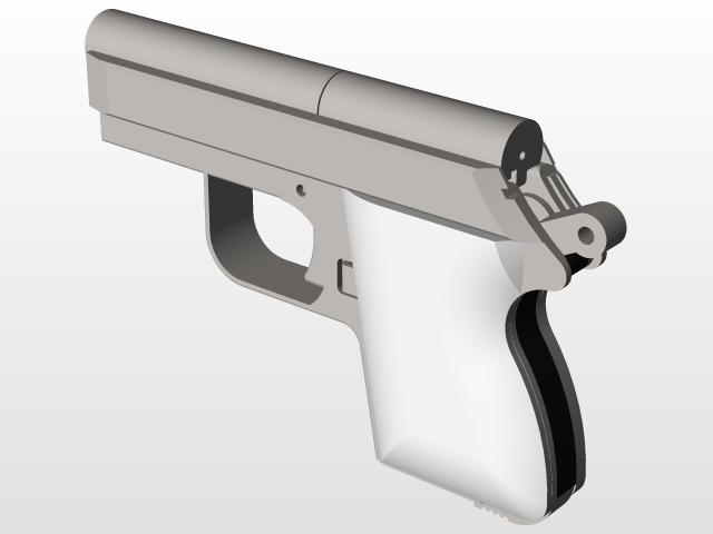 Sheet Metal Pistol 380 Acp 3d Cad Model Library Grabcad