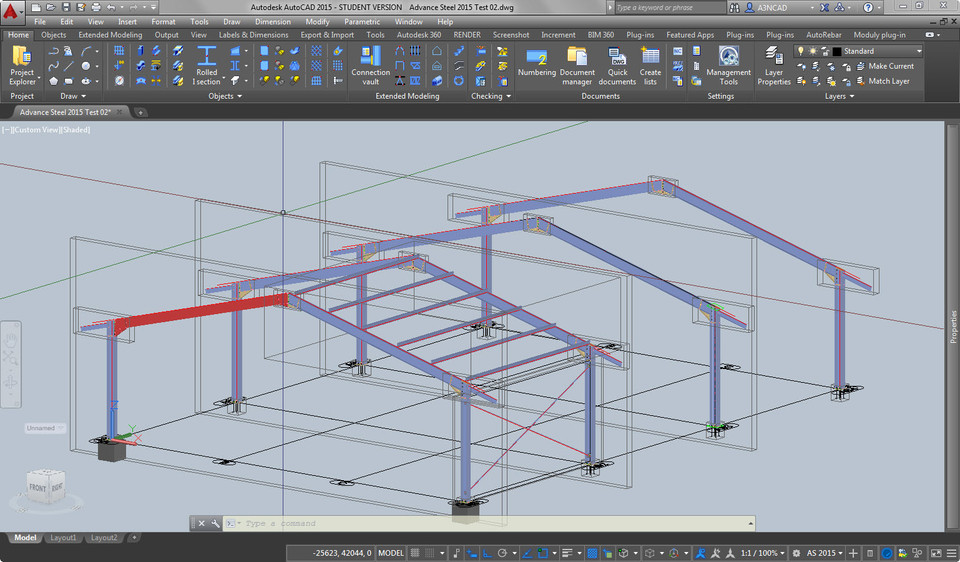 Parametric Steel Design in AutoCAD 2015 | 3D CAD Model