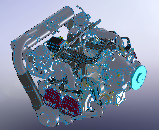 Rotax 912   3D CAD Model Library   GrabCAD