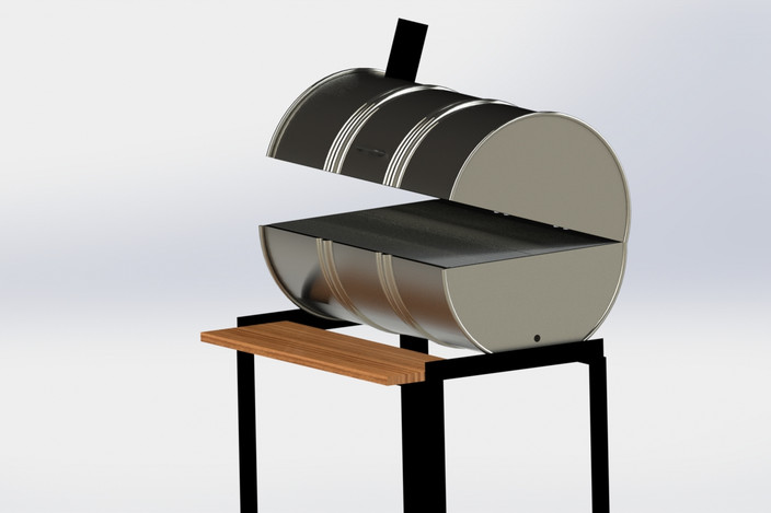 Bbq grill 55 gallon drum grill smoker solidworks 3d - 3d home architect design deluxe 8 tutorial ...