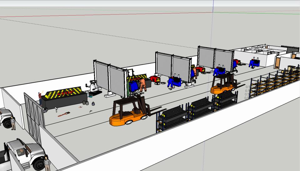 HYDRAULIC ROAD BLOCKER INDUSTRIAL WORKSHOP DESIGN | 3D CAD