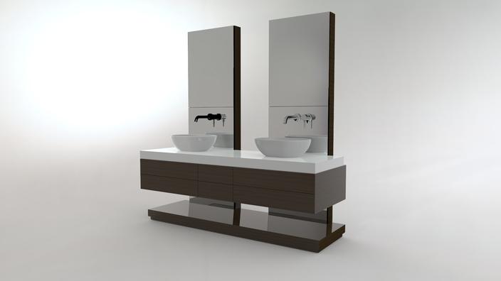 Free standing wash basin furniture