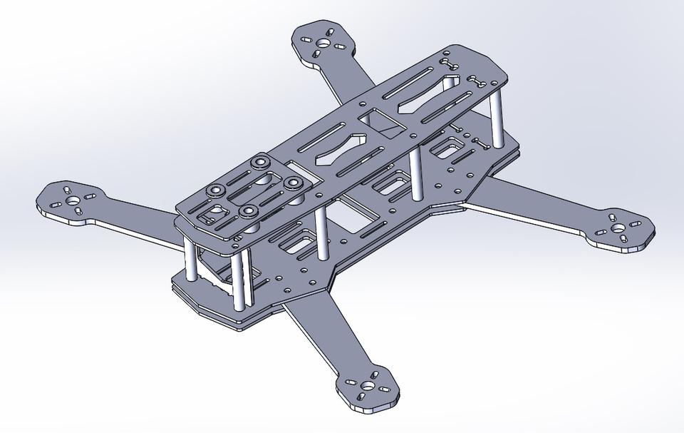 ZMR250 Quadcopter Frame | 3D CAD Model Library | GrabCAD