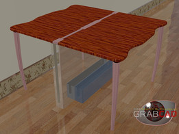 Plate#3-Floating Resto_Easy-Keep, Foldable Table