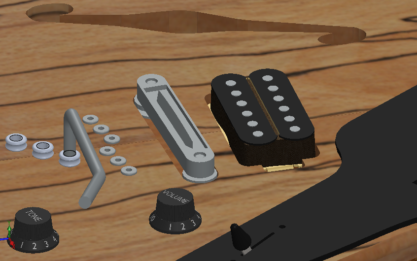 Tune-O-Matic bridge for Gibson Guitars   3D CAD Model Library