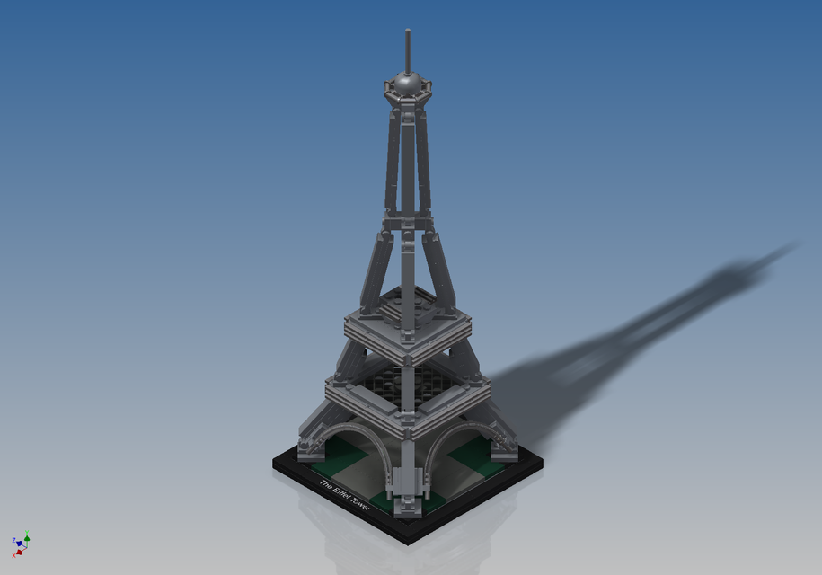 lego architecture - the eiffel tower (21019) - autodesk inventor