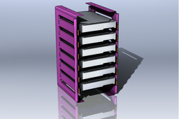 Fast insertion HDD rack with trays from xPredator case