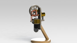 Vertical Stirling Engine