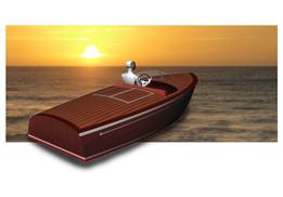 Classic motor boat Sea Scout
